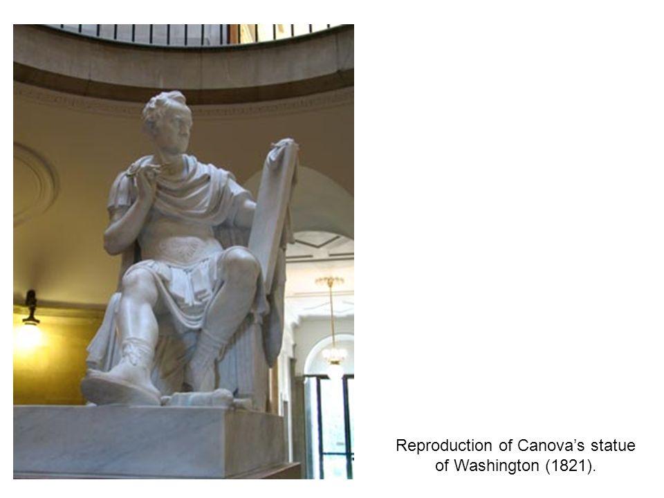 Reproduction of Canovas statue of Washington (1821).