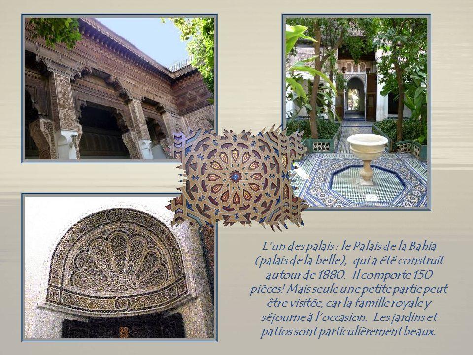 La partie la plus ancienne du vieux rempart de Marrakech.
