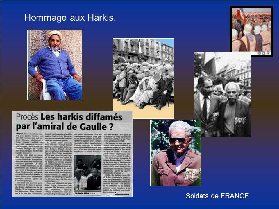 Hommage aux Harkis. Soldats de FRANCE