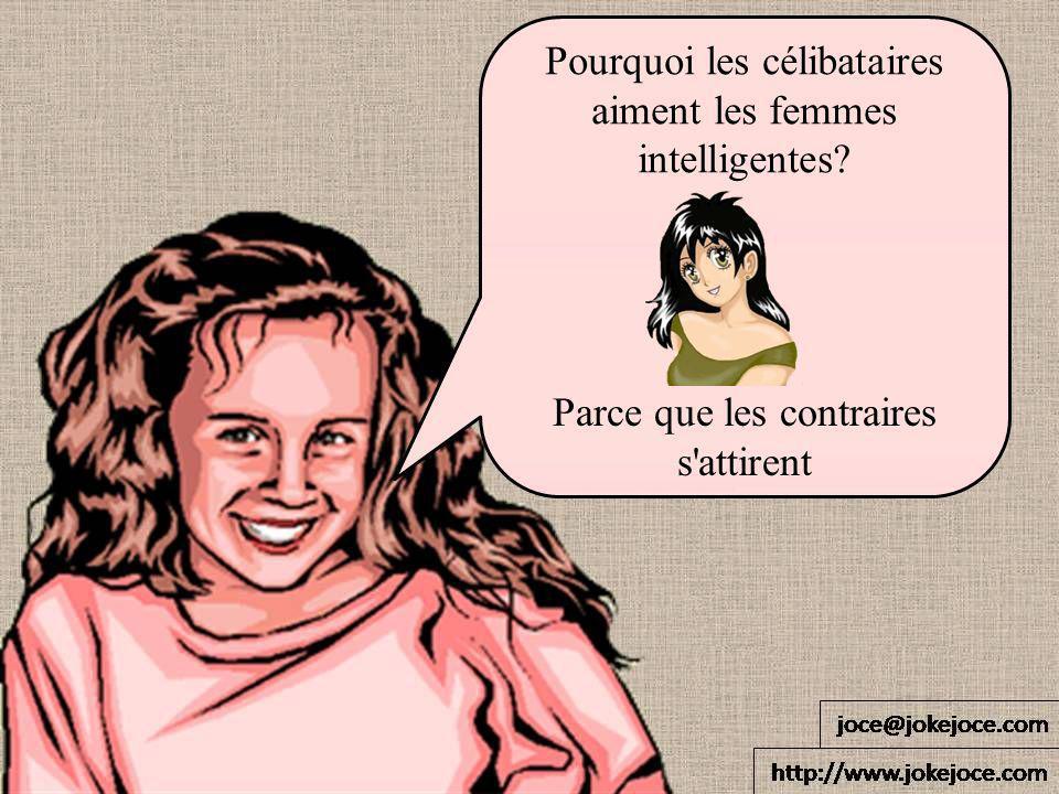 Pourquoi les célibataires aiment les femmes intelligentes? Parce que les contraires s'attirent
