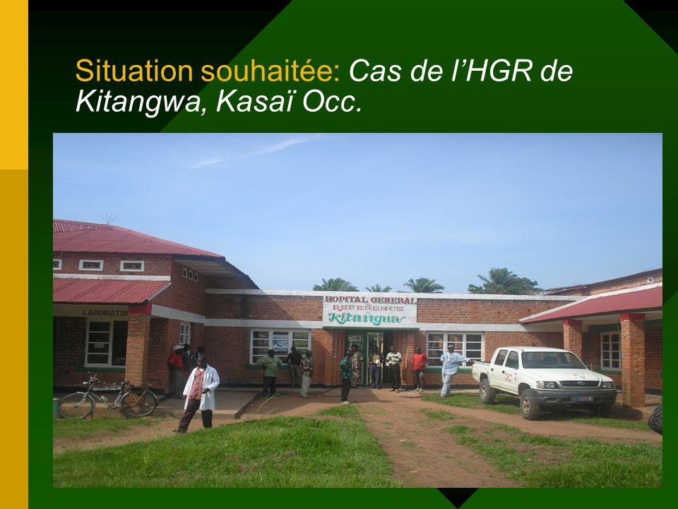 19 Situation souhaitée: Cas de lHGR de Kitangwa, Kasaï Occ.