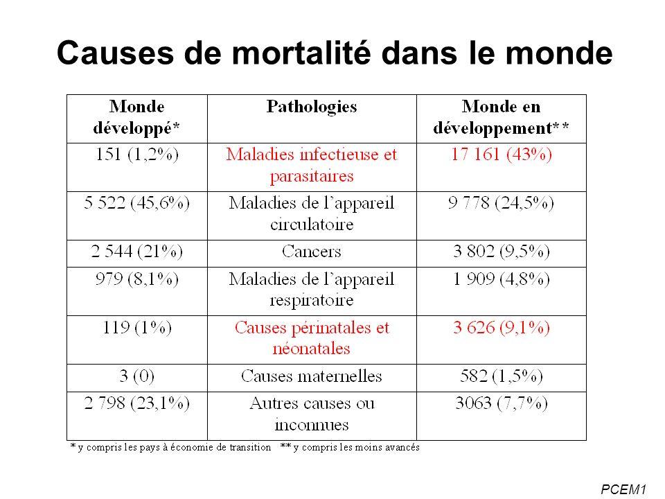PCEM1 Causes de mortalité dans le monde