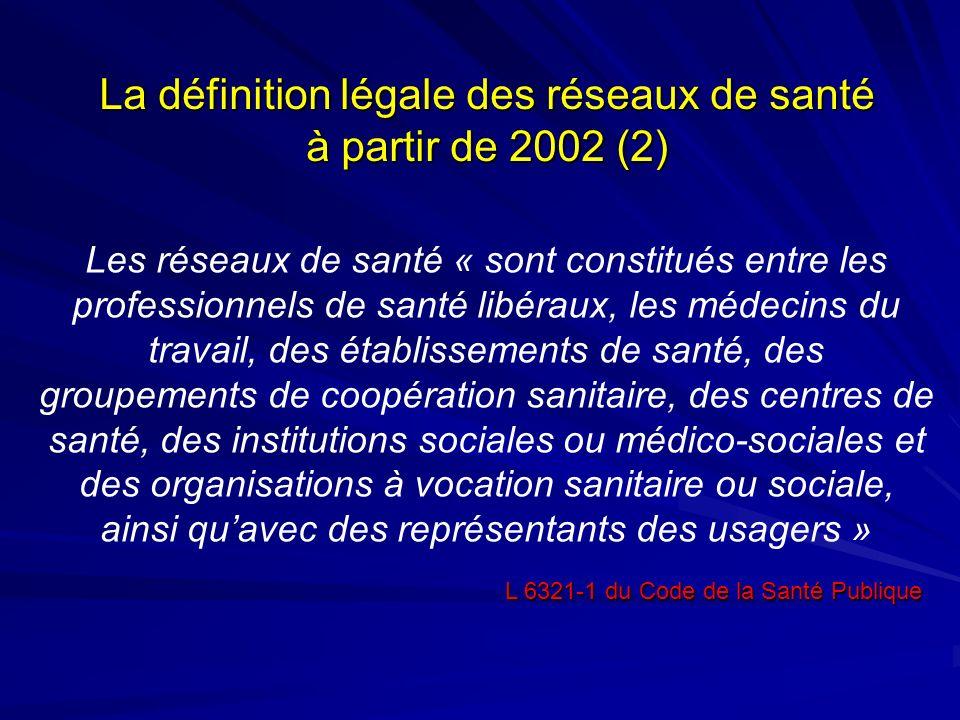 Les réseaux de santé « sont constitués entre les professionnels de santé libéraux, les médecins du travail, des établissements de santé, des groupemen