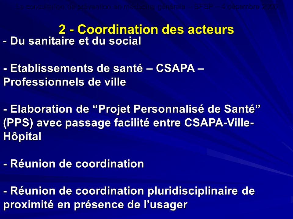 - Du sanitaire et du social - Etablissements de santé – CSAPA – Professionnels de ville - Elaboration de Projet Personnalisé de Santé (PPS) avec passa