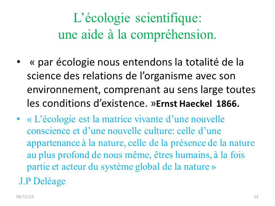 06/12/1314 Lécologie scientifique: une aide à la compréhension.