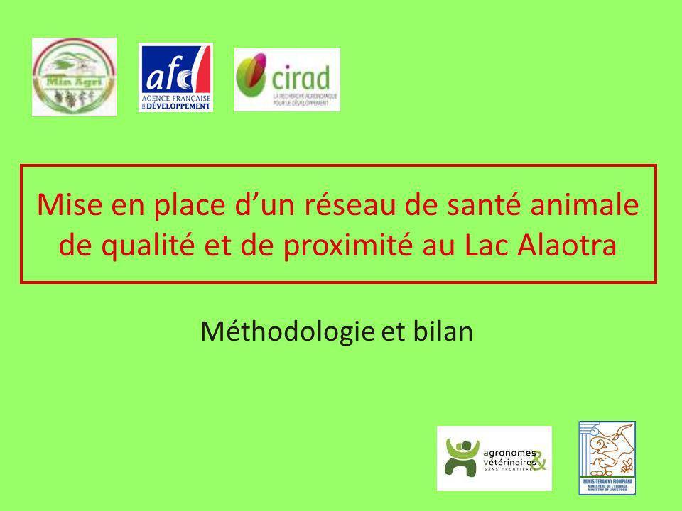 Mise en place dun réseau de santé animale de qualité et de proximité au Lac Alaotra Méthodologie et bilan