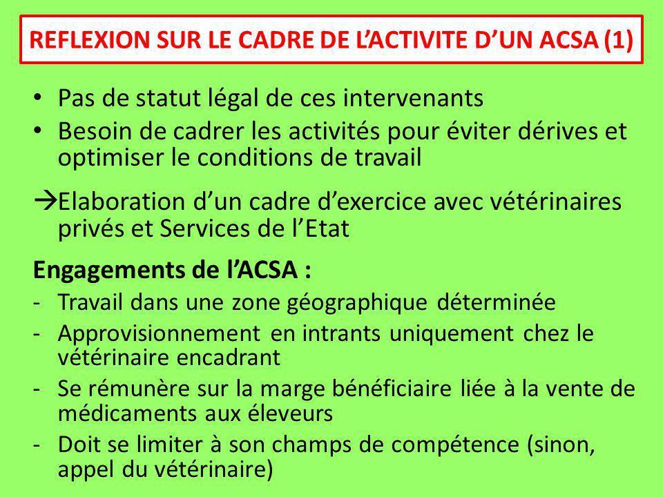Pas de statut légal de ces intervenants Besoin de cadrer les activités pour éviter dérives et optimiser le conditions de travail Elaboration dun cadre