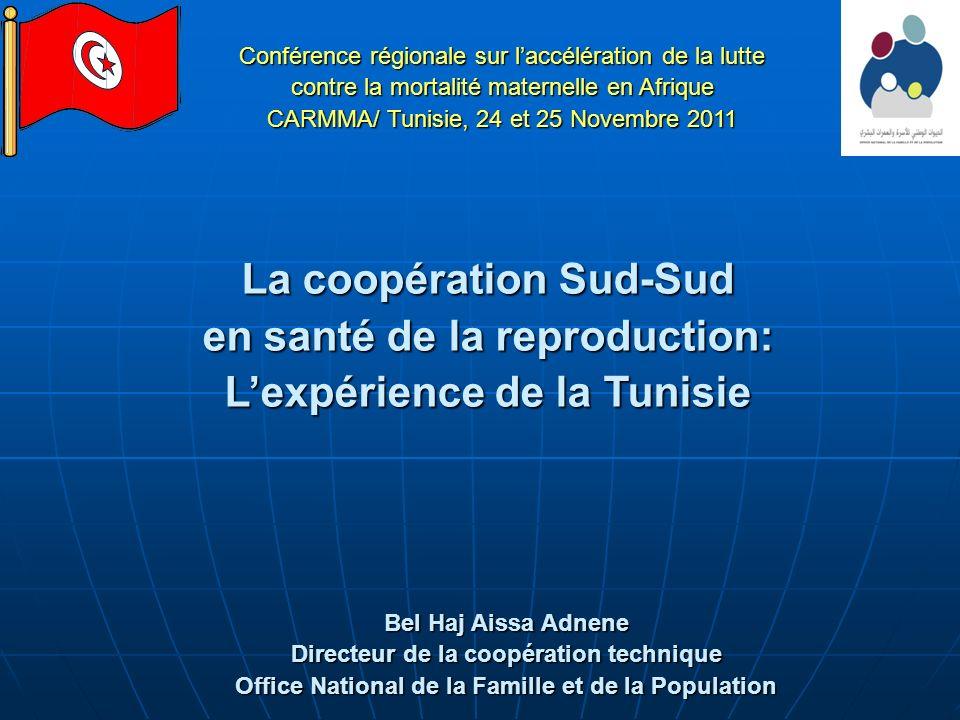 La coopération Sud-Sud en santé de la reproduction: Lexpérience de la Tunisie Bel Haj Aissa Adnene Directeur de la coopération technique Office Nation