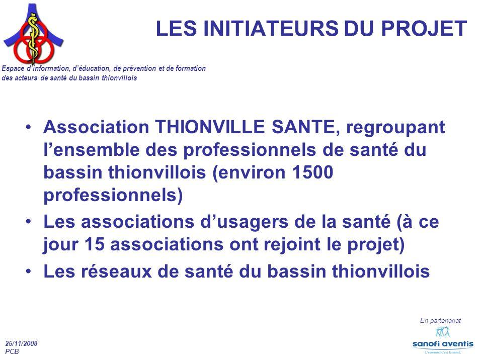25/11/2008 PCB En partenariat Association THIONVILLE SANTE, regroupant lensemble des professionnels de santé du bassin thionvillois (environ 1500 prof