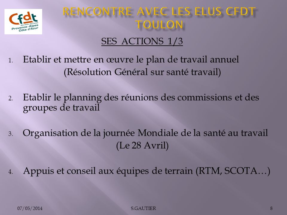 SES ACTIONS 1/3 1.