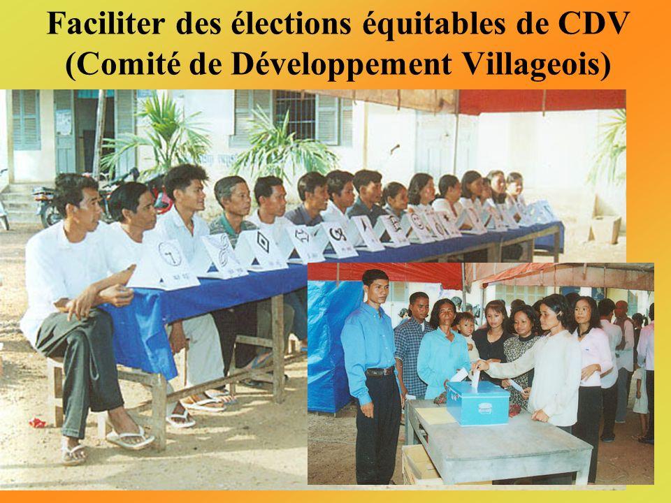 Organiser des séminaires de sensibilisation des autorités et des villageois dans les régions choisies