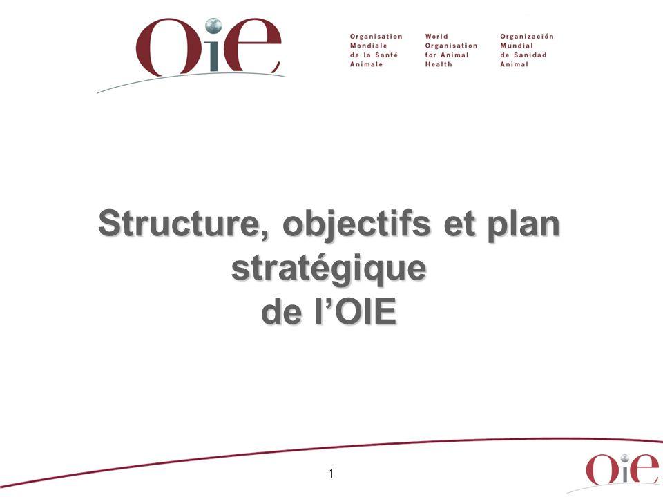 1 Structure, objectifs et plan stratégique de lOIE
