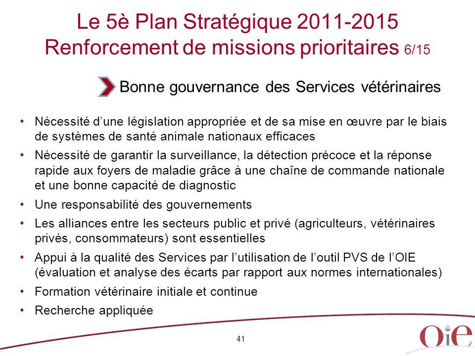 41 Nécessité dune législation appropriée et de sa mise en œuvre par le biais de systèmes de santé animale nationaux efficaces Nécessité de garantir la