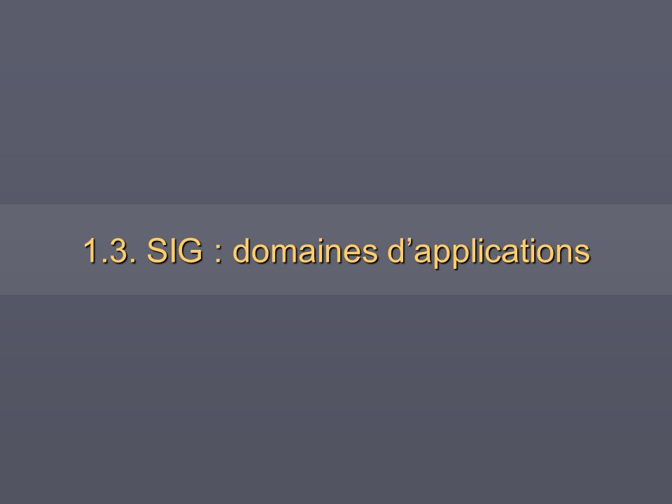 1.3. SIG : domaines dapplications