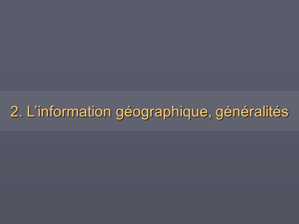 2. Linformation géographique, généralités