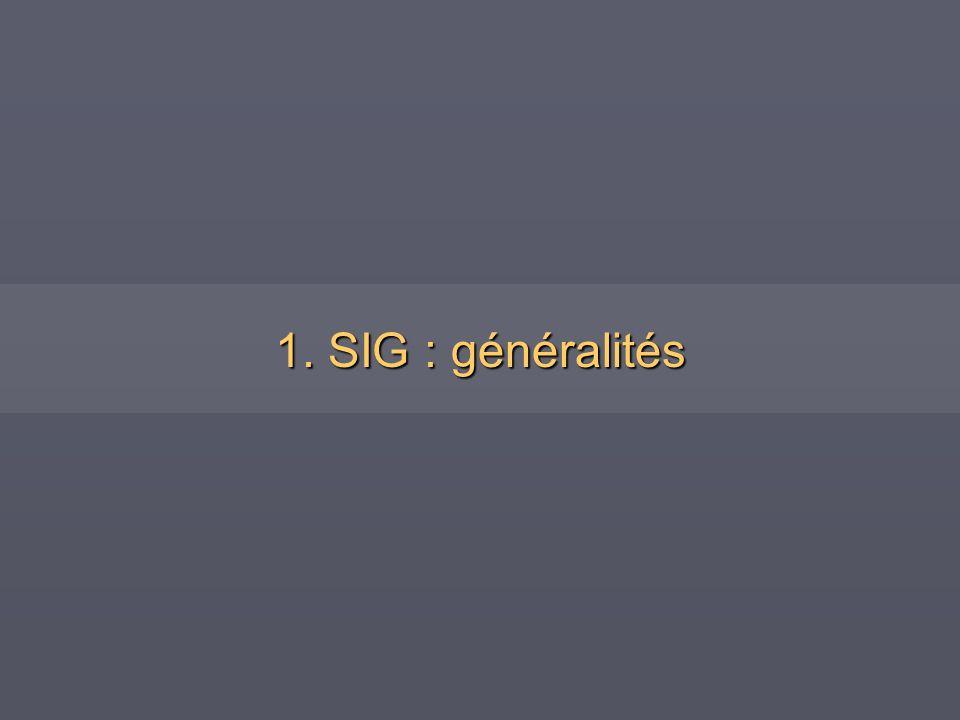 1. SIG : généralités