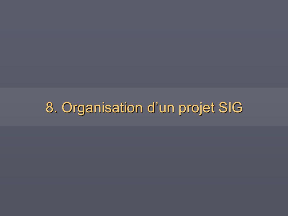8. Organisation dun projet SIG
