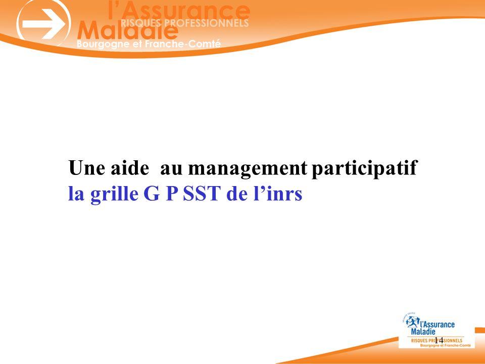 14 Une aide au management participatif la grille G P SST de linrs