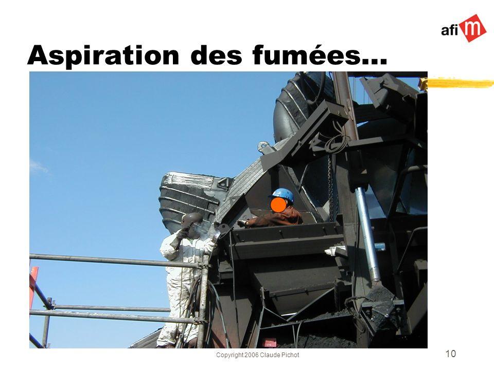Copyright 2006 Claude Pichot 10 Aspiration des fumées…