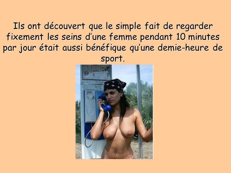 Regarder les seins des femmes est bon pour la santé des hommes et aide à vivre plus longtemps. Cest ce qui ressort dune étude publiée par un groupe de