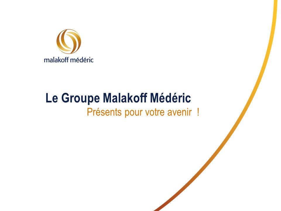 Le Groupe Malakoff Médéric Présents pour votre avenir !