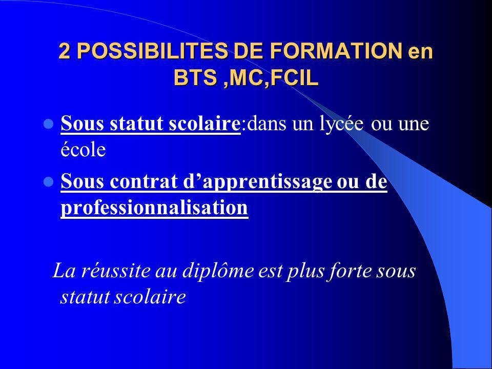 Exemples de FCIL (2007-2008) Après un bac pro secrétariat::Secrétariat du secteur de la santé Après un bac pro électrotechnique :Éclairage de ville Ap