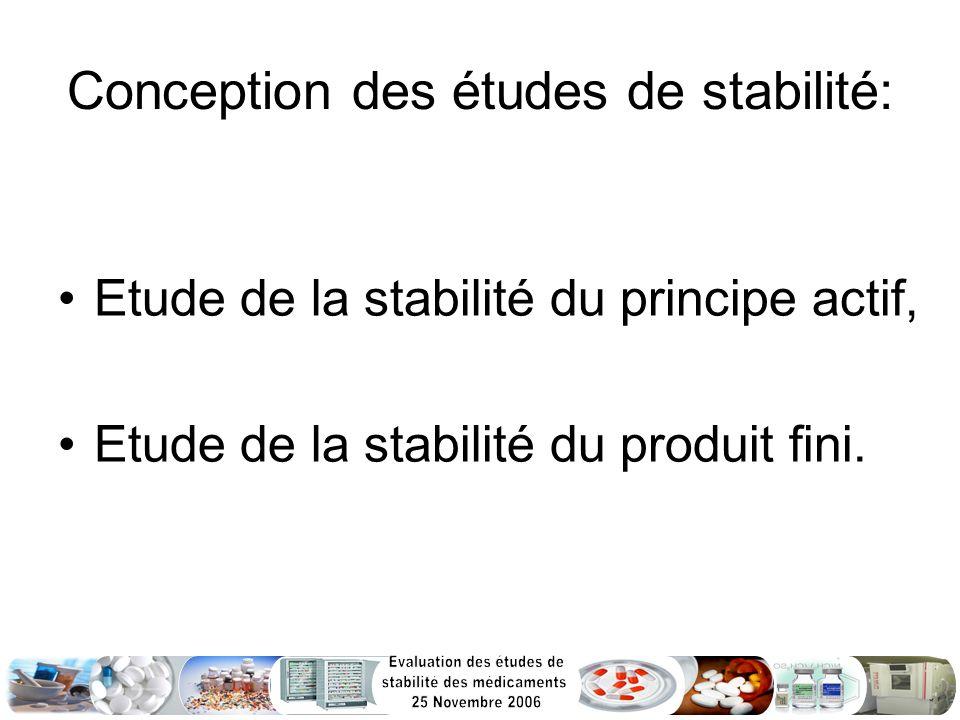 Conclusion: Fourniture, à lenregistrement des produits, dune documentation technique complète, Garantie de la stabilité des médicaments pendant toute la durée de validité proposée.