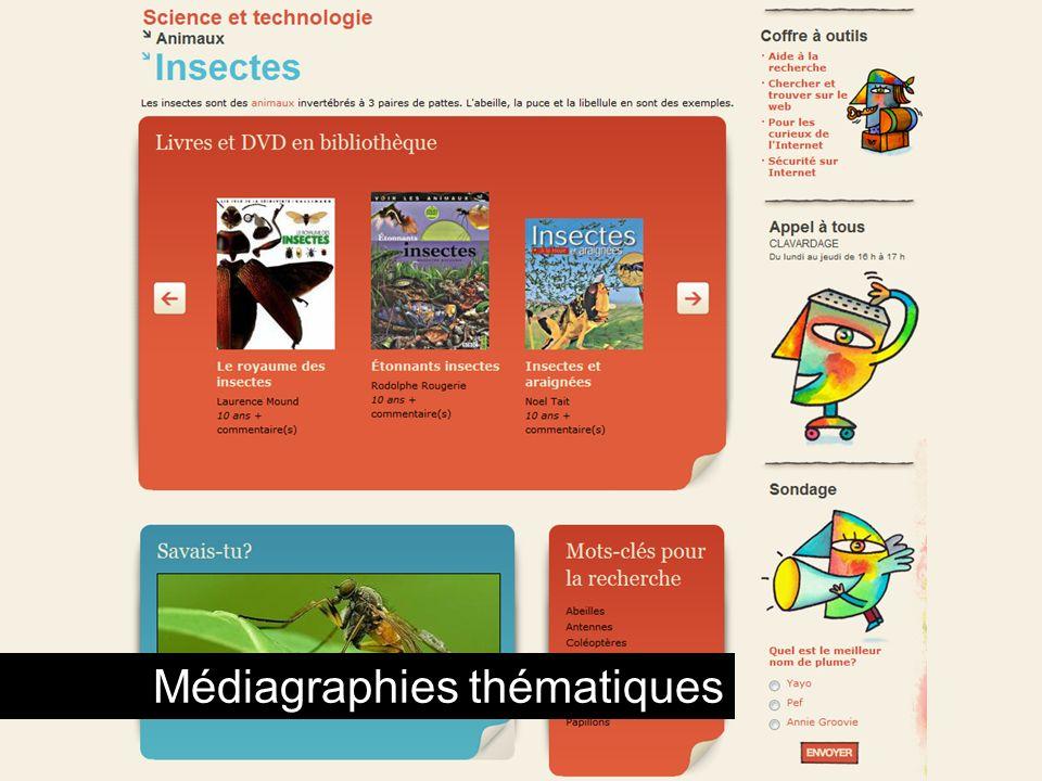 Médiagraphies thématiques