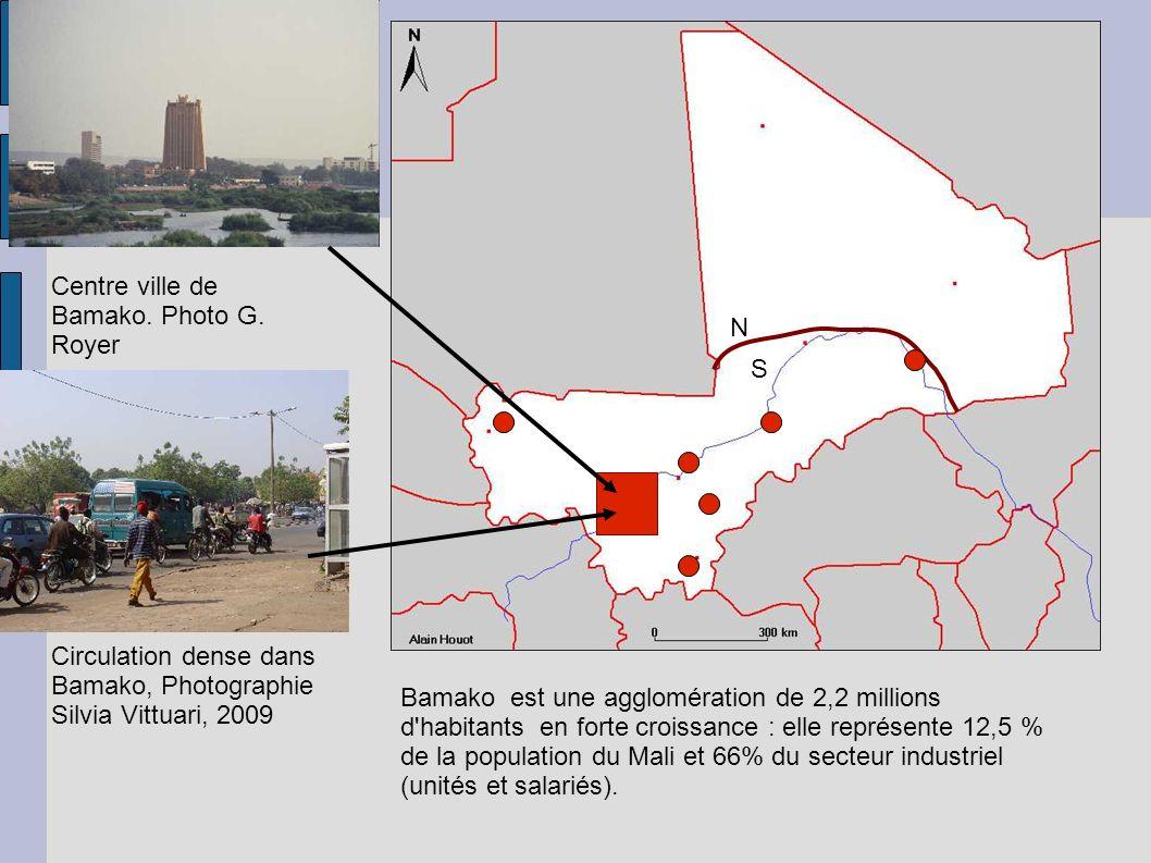 Centre ville de Bamako. Photo G.