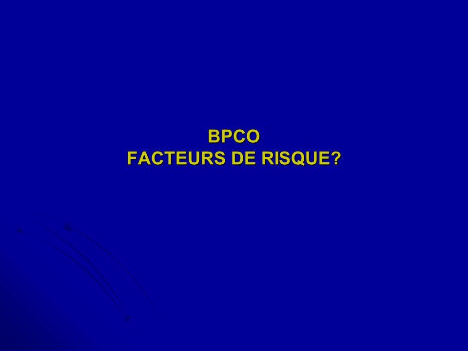 BPCO FACTEURS DE RISQUE?