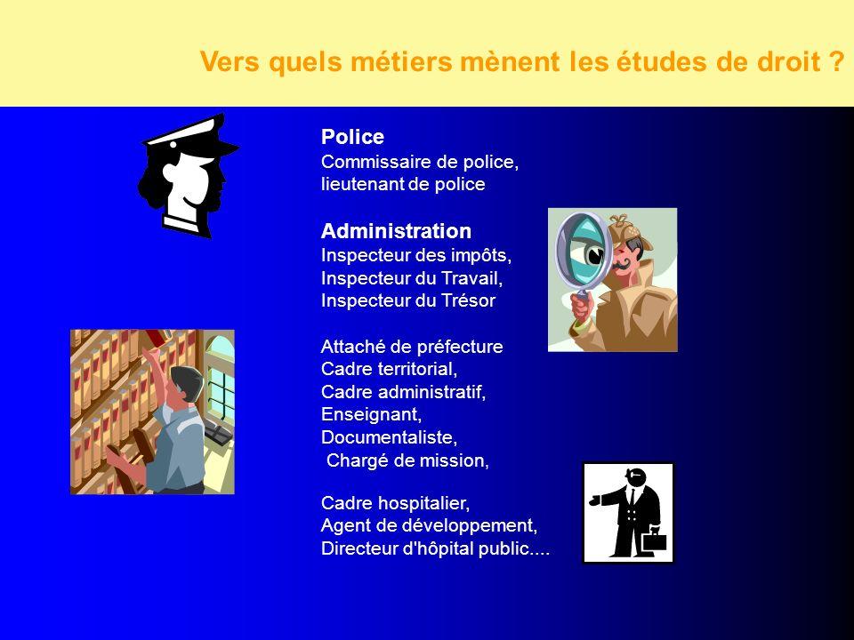 Vers quels métiers mènent les études d'économie et de gestion Vers quels métiers mènent les études d'économie et de gestion Police Commissaire de poli