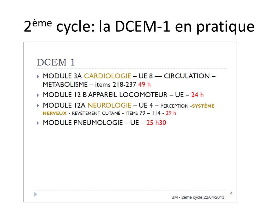 2 ème cycle: la DCEM-1 en pratique