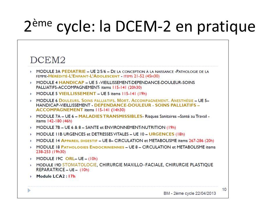 2 ème cycle: la DCEM-2 en pratique