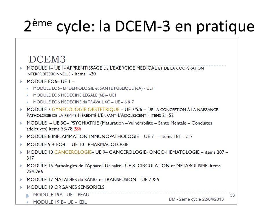 2 ème cycle: la DCEM-3 en pratique