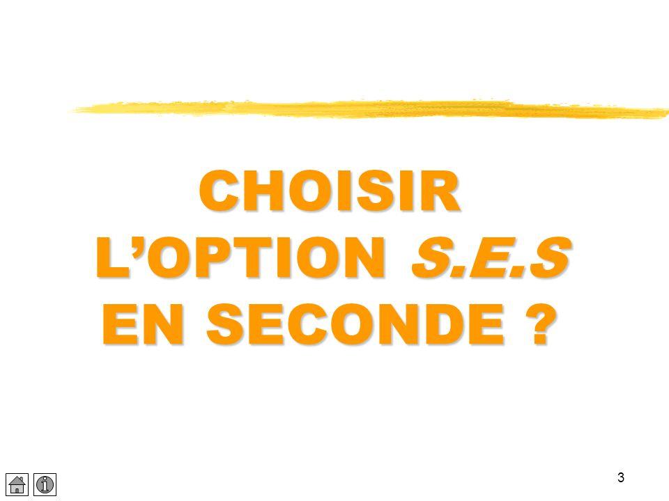 3 CHOISIR LOPTION S.E.S EN SECONDE ?