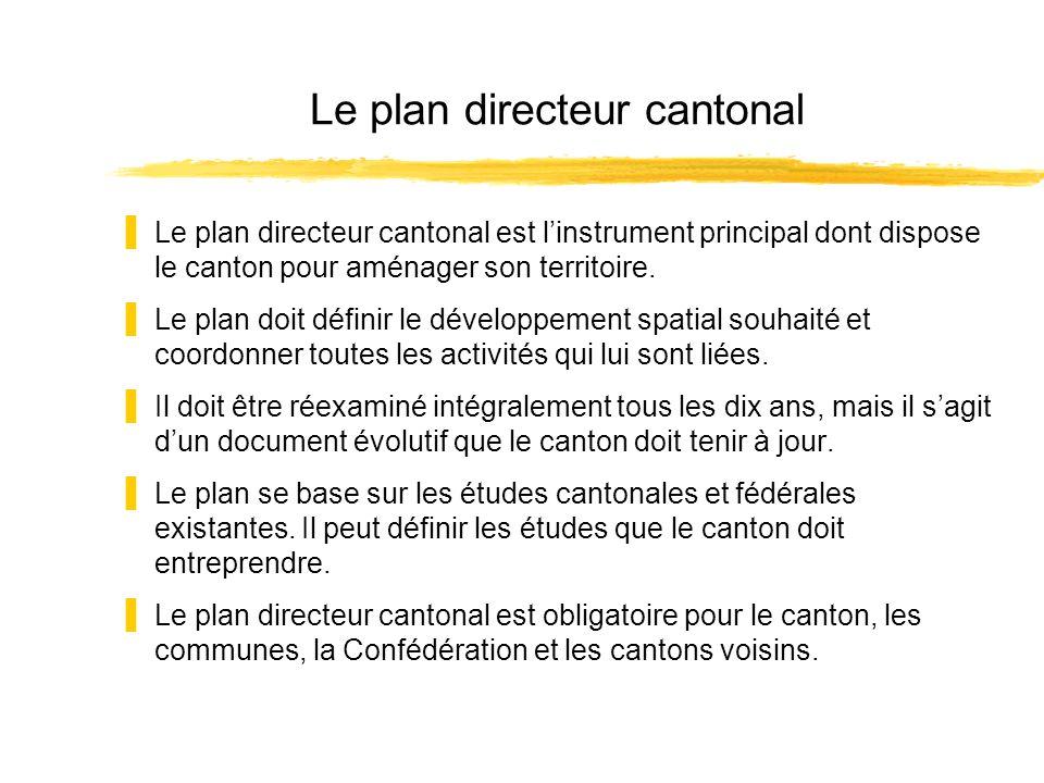 Le plan directeur cantonal Le plan directeur cantonal est linstrument principal dont dispose le canton pour aménager son territoire. Le plan doit défi