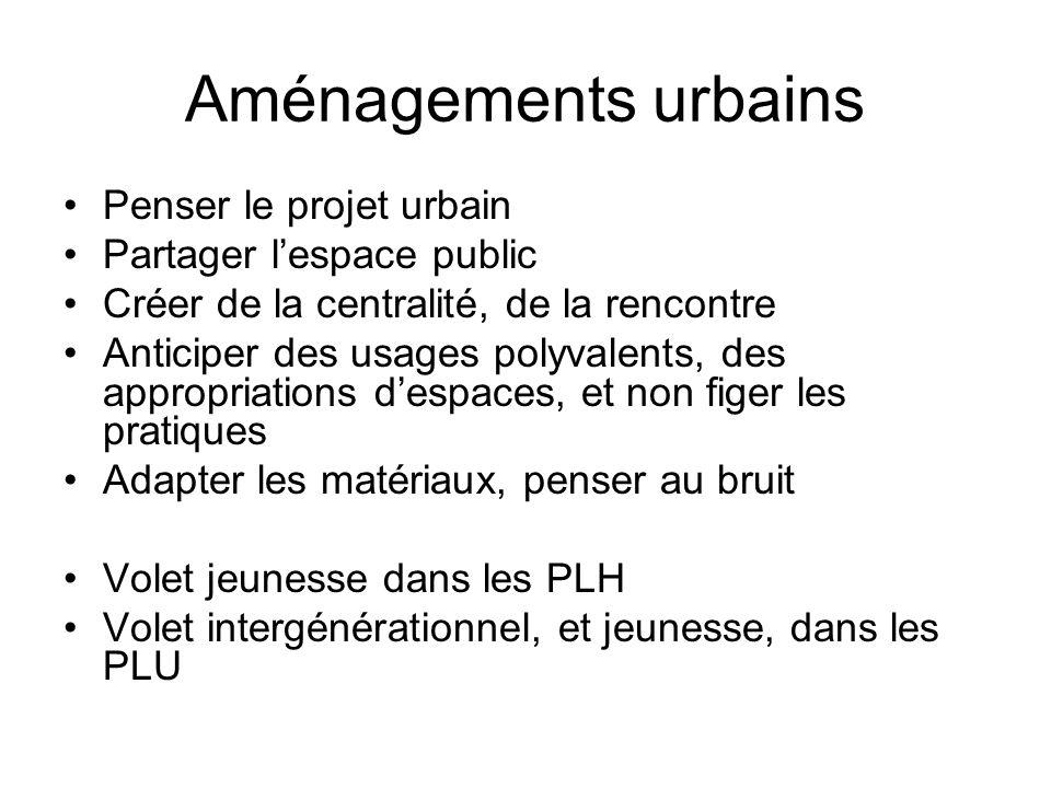 Aménagements urbains Penser le projet urbain Partager lespace public Créer de la centralité, de la rencontre Anticiper des usages polyvalents, des app