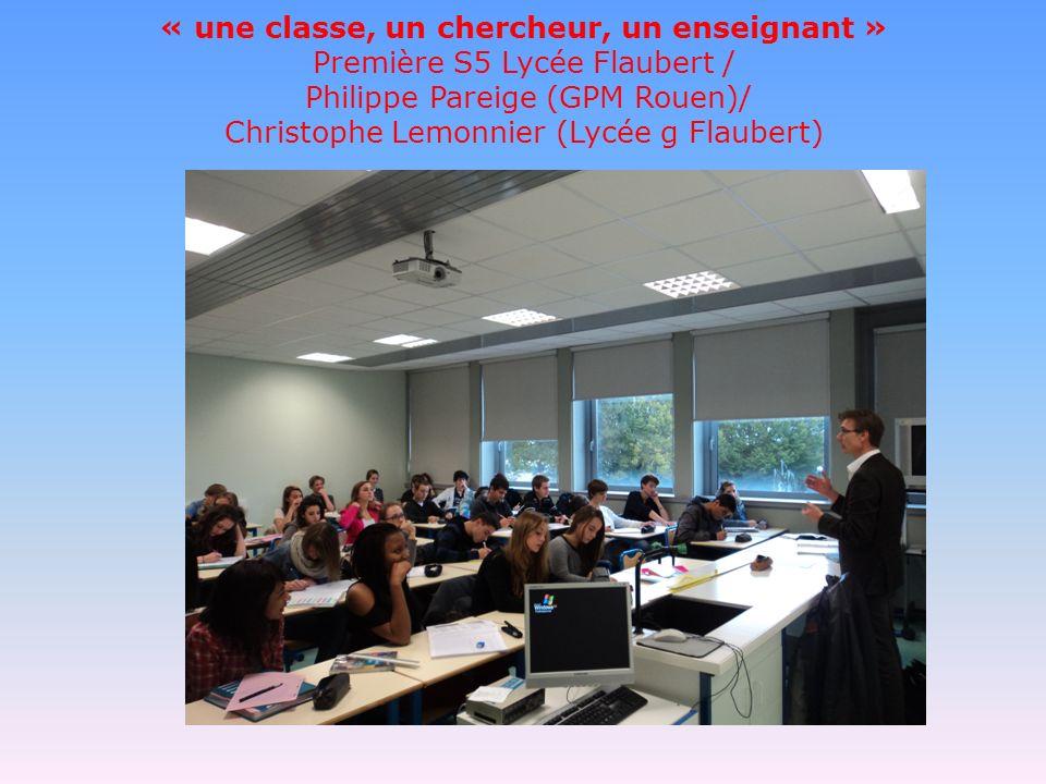 Introduction Phillipe Pareige, chercheur et professeur au technopôle de Rouen est venu, dans le cadre dune opération entre le rectorat et le CNRS.