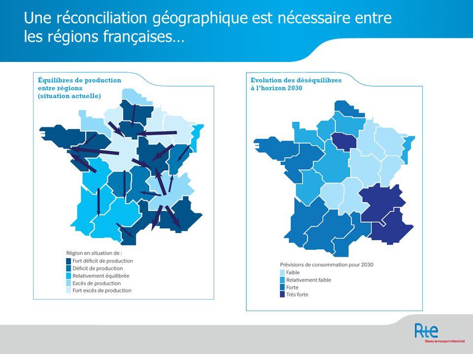 Une réconciliation géographique est nécessaire entre les régions françaises…