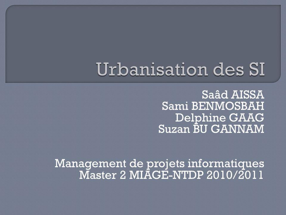 Saâd AISSA Sami BENMOSBAH Delphine GAAG Suzan BU GANNAM Management de projets informatiques Master 2 MIAGE-NTDP 2010/2011