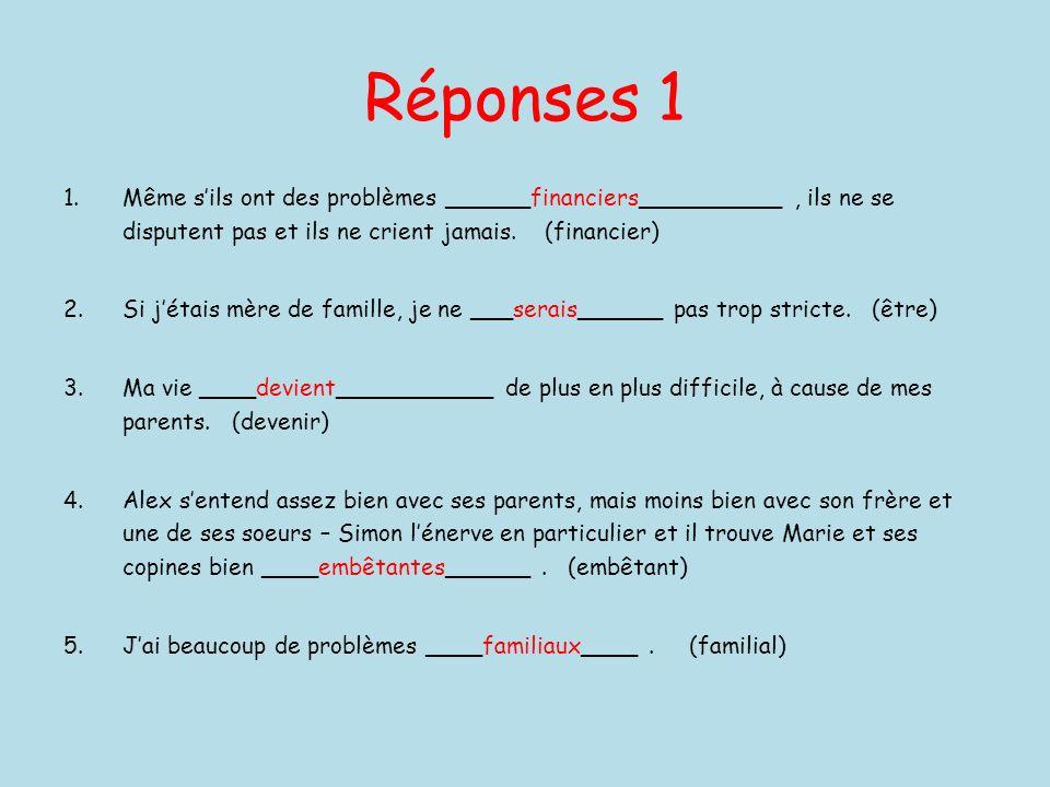 Remplissez les blancs 2 1.En France, il est __________________ de plus en plus compliqué de divorcer.