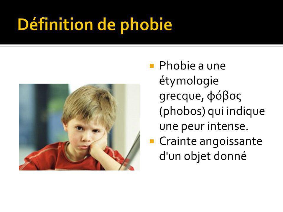 Phobie a une étymologie grecque, φόβος (phobos) qui indique une peur intense.