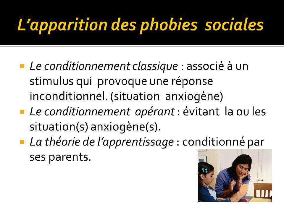 Le conditionnement classique : associé à un stimulus qui provoque une réponse inconditionnel.