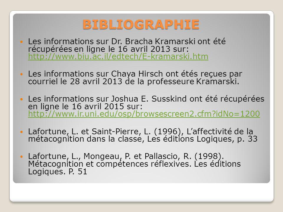 BIBLIOGRAPHIE Les informations sur Dr.