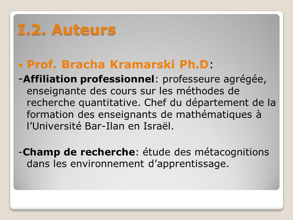 -Principales publications: Kramarski, B.(2008).