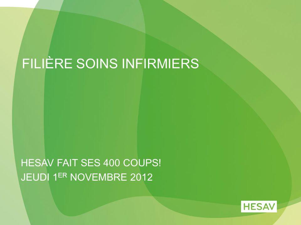 FILIÈRE SOINS INFIRMIERS HESAV FAIT SES 400 COUPS! JEUDI 1 ER NOVEMBRE 2012