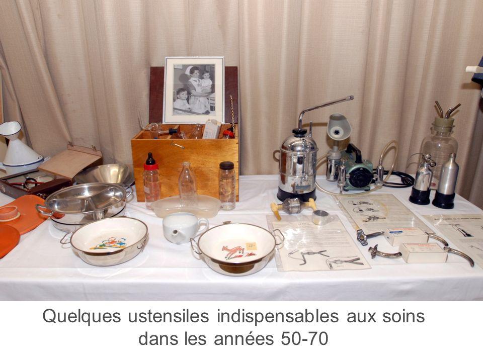 Haute Ecole de Santé Vaud 5 Quelques ustensiles indispensables aux soins dans les années 50-70