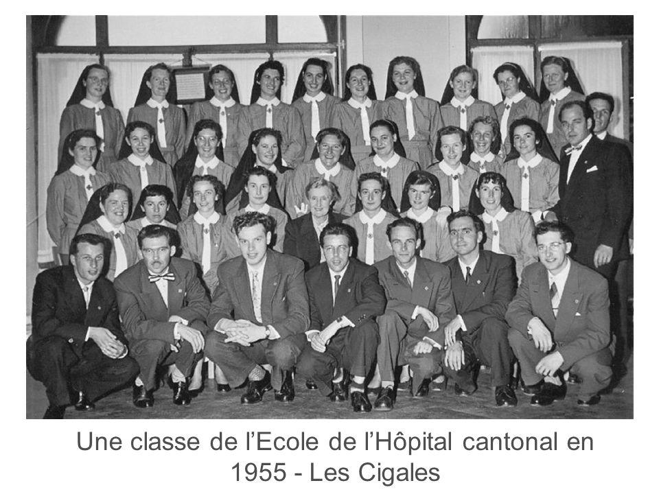Haute Ecole de Santé Vaud 6 Une classe de lEcole de lHôpital cantonal en 1955 - Les Cigales