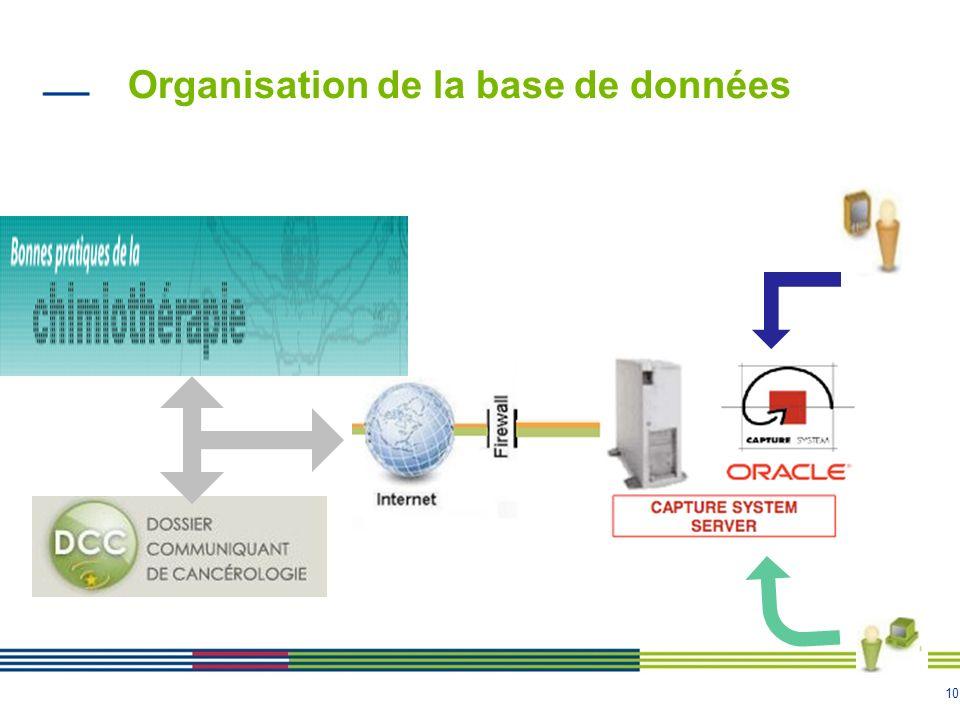 10 Organisation de la base de données