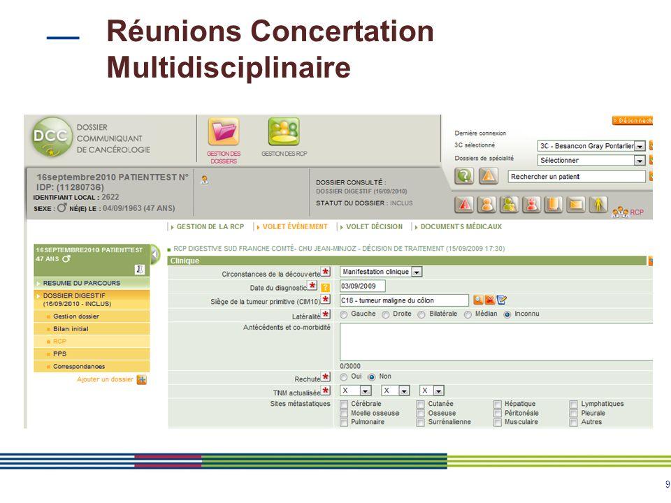 9 Réunions Concertation Multidisciplinaire